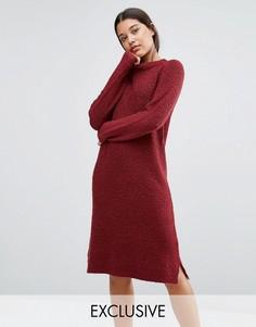 Красное платье-джемпер букле Micha Lounge - Красный