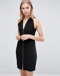 Облегающее платье с молнией спереди Love & Other Things - Черный