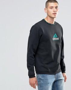 Черный свитшот с круглым вырезом adidas Originals EQT AY9246 - Черный