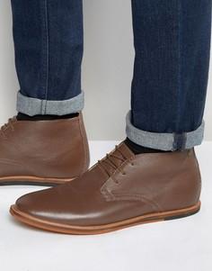 Кожаные коричневые ботинки чукка Frank Wright Strachan - Коричневый