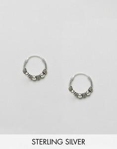 Серебряные серьги-кольца Kingsley Ryan Bali - Серебряный