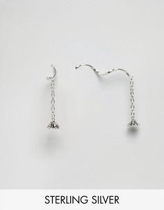 Серебряные серьги с цветочками Kingsley Ryan - Серебряный