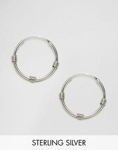 Большие серьги-кольца Kingsley Ryan Bali - Серебряный