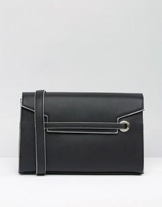 Миниатюрная сумка-тоут через плечо Nali - Черный