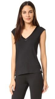Топ-основа с коротким рукавом и атласной отделкой Essentials Calvin Klein Underwear