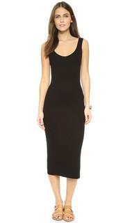 Платье в рубчик без рукавов Enza Costa