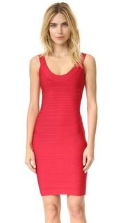 Платье с овальным вырезом Signature Essentials Herve Leger