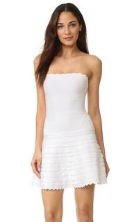 Платье Phoebe без бретелек Herve Leger
