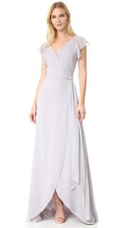 Платье Dorian с запахом и оборчатыми рукавами Joanna August