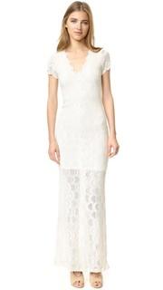 Викторианское кружевное платье с короткими рукавами Nightcap x Carisa Rene