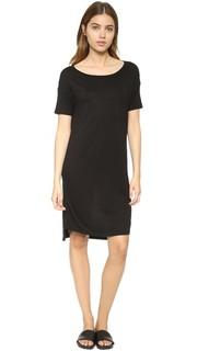 Классическое платье с приспущенными плечами и карманом T by Alexander Wang