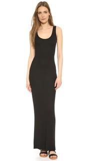 Рубчатое макси-платье без рукавов Enza Costa