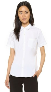 Роскошная блуза на пуговицах в стиле униформы Theory