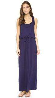 Макси-платье без рукавов с завязками Three Dots