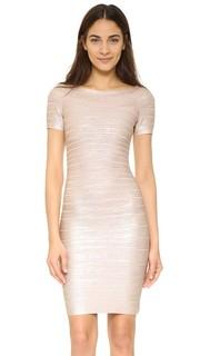 Платье Carmen с блестящей отделкой Herve Leger