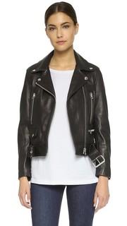 Байкерская куртка из натуральной кожи Acne Studios