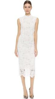Платье с высоким вырезом Monique Lhuillier