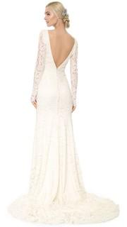 Кружевное вечернее платье Nicole Theia