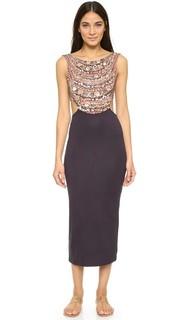 Миди-платье с овальным вырезом на спине Mara Hoffman