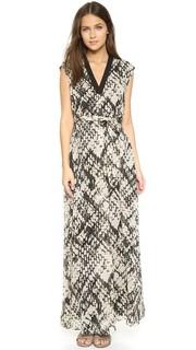 Макси-платье из ткани с принтом Vince