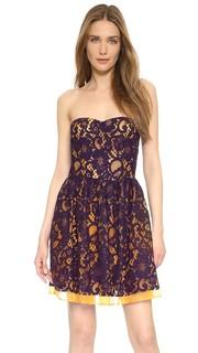 Платье без бретелек Msgm