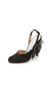 Туфли на каблуках с бахромой Maison Margiela