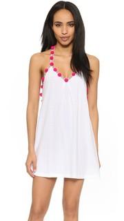 Платье с помпонами Pitusa
