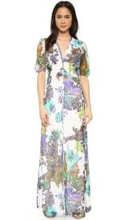 Вечернее платье с цветочным принтом и пуговицами спереди Michelle Mason