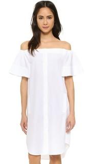 Платье-рубашка с открытыми плечами Vince