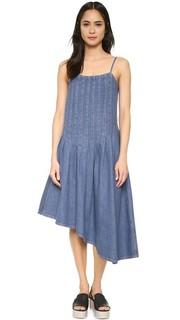Асимметричное платье из денима Suno