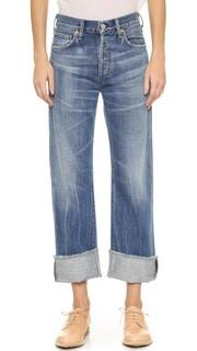 Укороченные свободные джинсы Parker с манжетами Citizens of Humanity