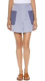 Мини-юбка с накладными карманами MDS Stripes