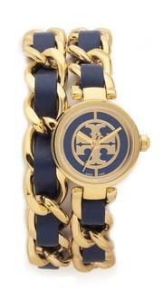 Миниатюрные часы Reva с браслетом двойного обхвата Tory Burch