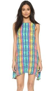 Воздушное платье из жатой ткани Flight Rainbow Mara Hoffman