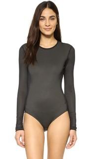 Спортивный купальник из сетки черного цвета Cover