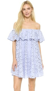 Кружевное платье с открытыми плечами Cynthia Rowley