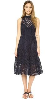 Платье Harlequin из вышитых вставок Zimmermann
