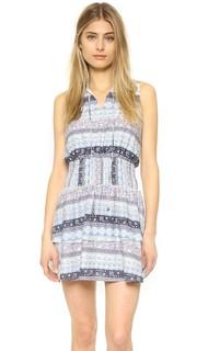 Платье-рубашка со сборками на талии Moon River