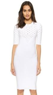 Платье с перфорированным V-образным вырезом Cushnie Et Ochs