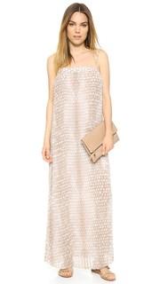 Макси-платье из шифона со складками Enza Costa