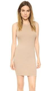 Мини-платье без рукавов из ткани в рубчик Enza Costa