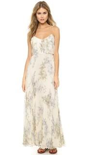 Вечернее платье из шелкового шифона в складку Jill Jill Stuart