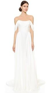Вечернее платье Delphine с открытыми плечами Theia