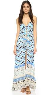 Длинное платье с завязками на груди Camilla
