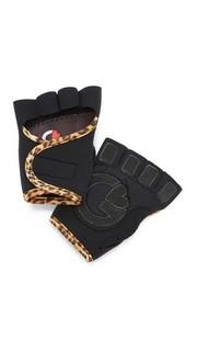 Спортивные перчатки черного цвета с леопардовым принтом G Loves