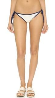 Плавки-бикини с завязками Poppy Delevingne Solid & Striped
