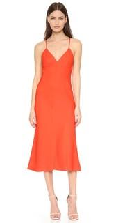 Асимметричное платье из эластичного шелка Milly