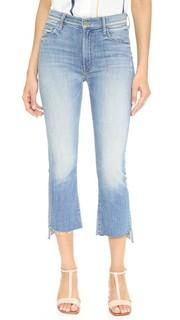 Укороченные потрепанные джинсы Insider Mother