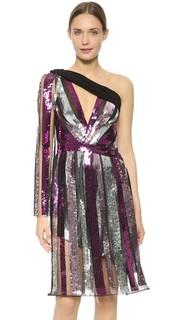 Платье на одно плечо с блестками Rodarte