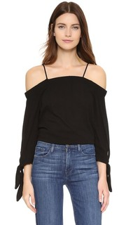Однотонная блуза с открытыми плечами Ella Moss